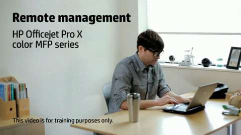 HP Officejet ProX MFP Remote Management Training Video