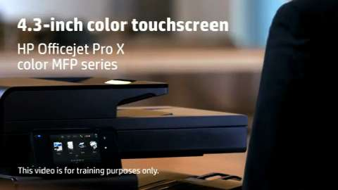 HP Officejet ProX MFP Touchscreen Training Video