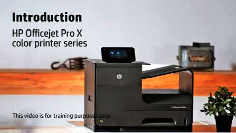 HP Officejet ProX SFP Intro Training Video