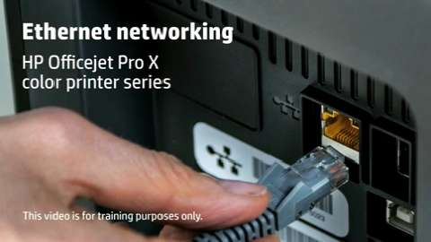 HP Officejet ProX SFP Ethernet Training Video