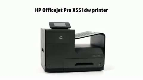 HP OJPro X551dw Printer Product Overview.