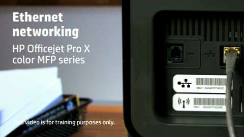 HP Officejet ProX MFP Ethernet Training Video