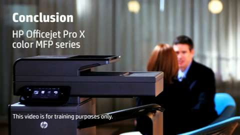 HP Officejet ProX MFP Conclusion NA Training Video