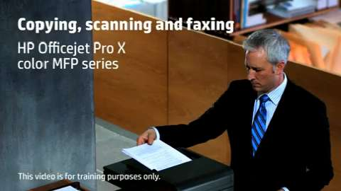 HP Officejet ProX MFP Copy Scan Fax Training Video