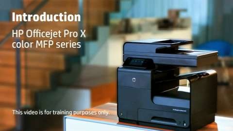 HP Officejet ProX MFP LA Intro Training Video