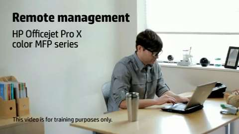 HP Officejet ProX MFP LA Remote Management Training Video