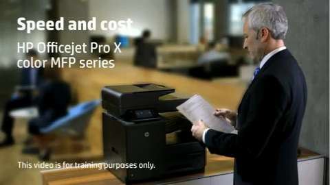 HP Officejet ProX MFP LA Speed Training Video