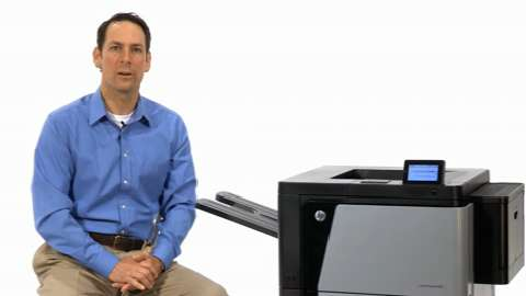 Easily navigate printer functions (HP Color LaserJet Enterprise M85)