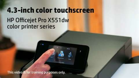 HP Officejet ProX SFP Touchscreen Training Video