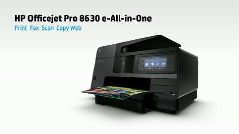 HP Officejet Pro 8630 e-All-in-One :30 Printer Product Overview Video