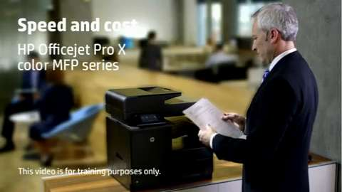 HP Officejet Pro X MFP Training Video Speed