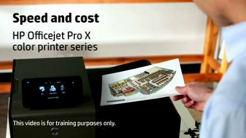 HP Officejet Pro X Training Video - Speed