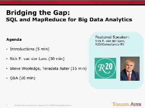Bridging the Gap: SQL and MapReduce for Big Analytics
