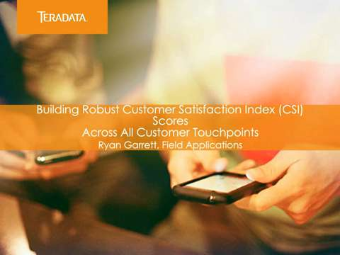 Customer Satisfaction Index Solution Demo