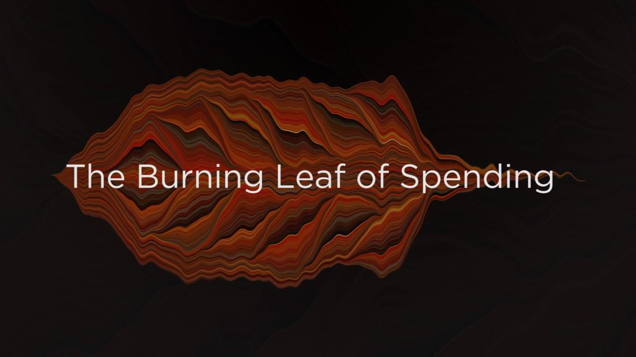The Burning Leaf of Spending
