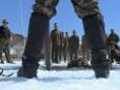 Pro Skiers make turns with US Marines