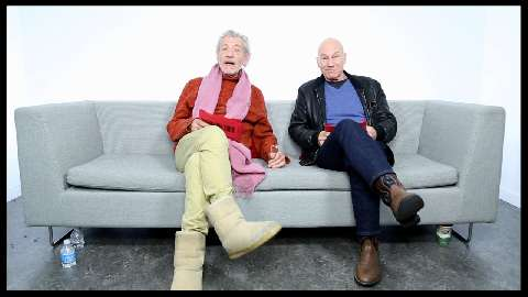 <I>Godot</I> & <I>No Man's Land</I> Besties Ian McKellen & Patrick Stewart on Envy, <I>Star Trek</I> Costumes & the 'Gandalf Face'