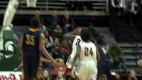 Wyoming Godwin Heights vs. Milan - 2015 Class B Boys Basketball Semifinal