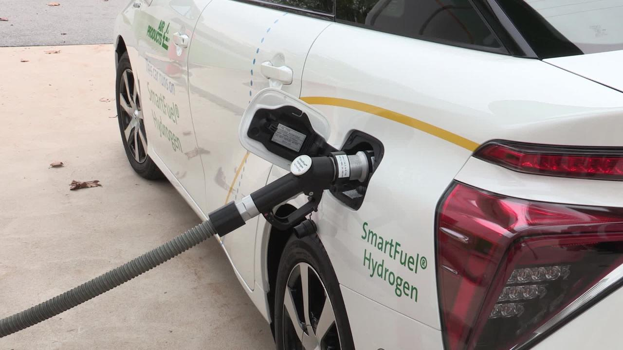 Fueling a hydrogen fuel cell car is easy!