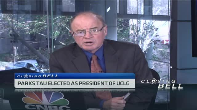 Parks Tau elected president of UCLG