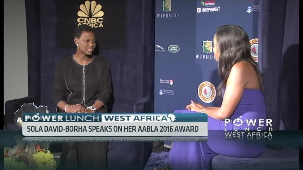 Sola David-Borha wins AABLA 2016 Business woman of the year award