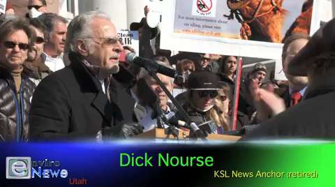 "Legendary News Anchor Dick Nourse at Air Pollution Rally: ""This is my first protest!"""