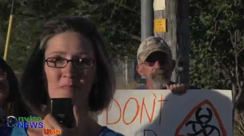 Alicia Connell at Stericycle Protest: 'How many lives have to be lost before the Governor shuts this place down?'