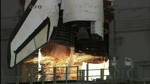 Close Up Shuttle Engines