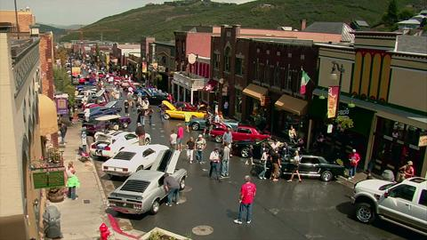 Wide Shot Car Show