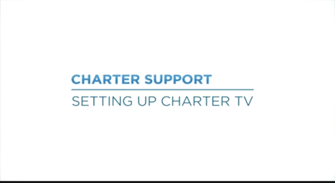 Link to support video about Setting Up Charter TV