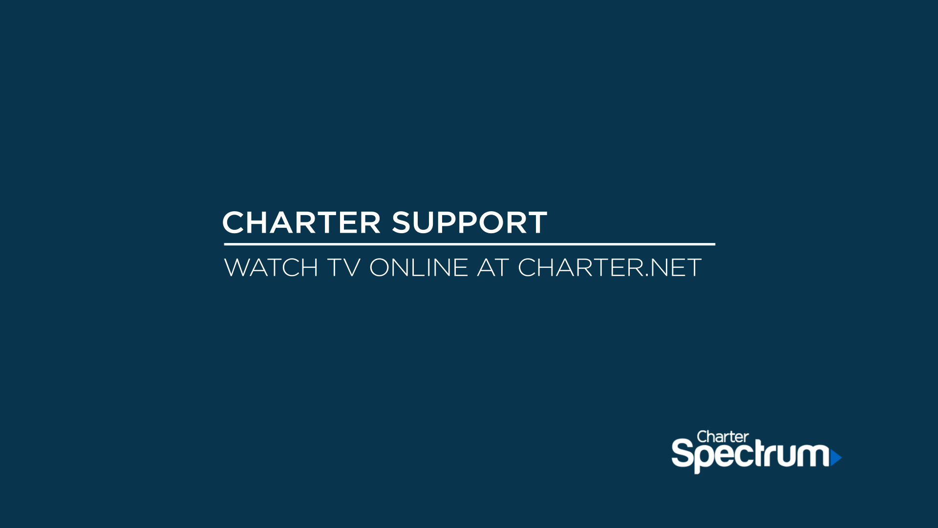 Link to support video about Watch TV Online at Spectrum.net
