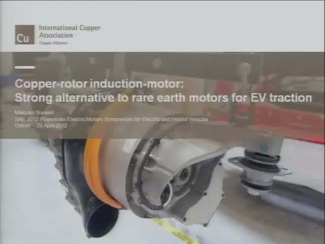 Copper-Rotor Induction- Motors:  One Alternative to Rare Earths in Traction Motors
