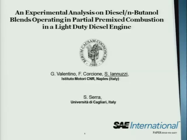 An Experimental Analysis on Diesel/n-Butanol Blends Operating in Partial Premixed Combustion in a Light Duty Diesel Engine
