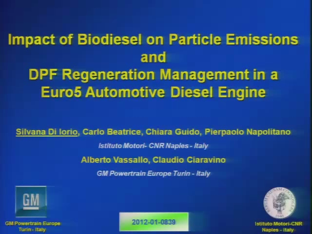 Impact of Biodiesel on Particle Emissions and DPF Regeneration Management in a Euro5 Automotive Diesel Engine