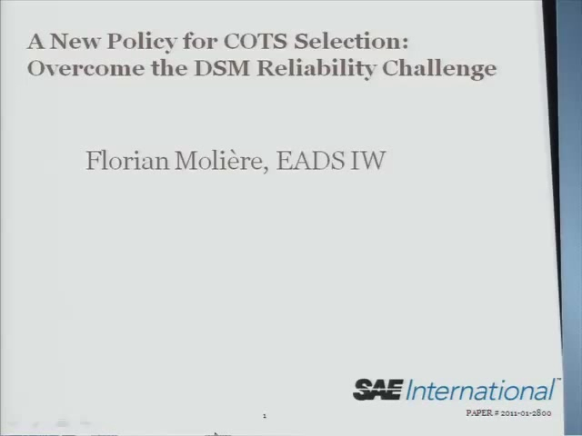 A New Policy for COTS Selection: Overcome the DSM Reliability Challenge