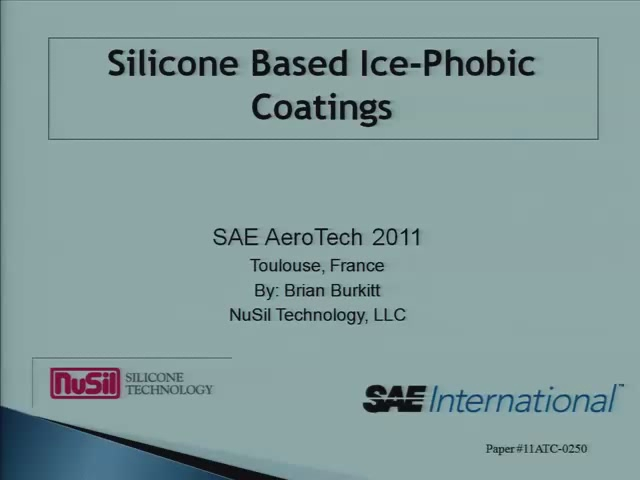 Ice Phobic Coatings for Control and Covered Surfaces