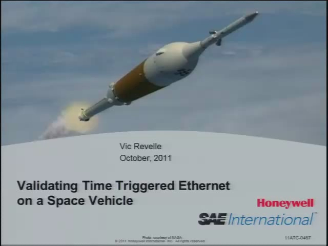 Validating Time Triggered Ethernet on a Space Vehicle