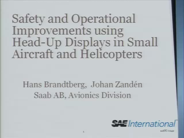 Safety and Operational Improvements Using Head-Up Displays in Small Aircraft and Helicopters