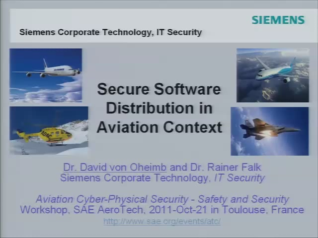 Secure Software Distribution in Aviation Context
