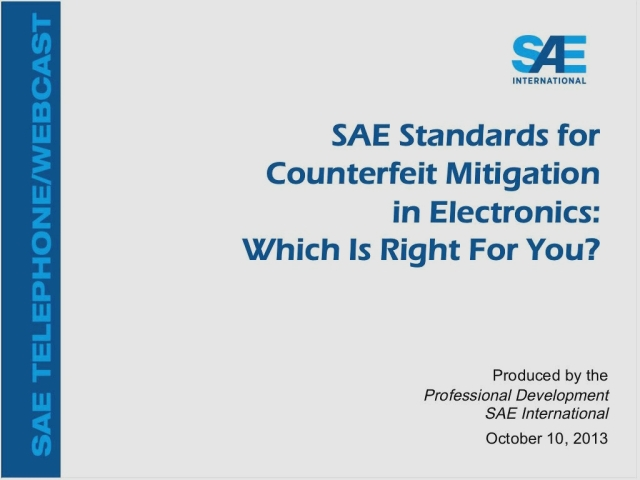 SAE Standards for Counterfeit Mitigation in Electronics: Which Is Right for You?