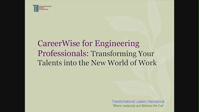 Career Wise for Engineering Professionals: Transforming Your Talents into the New World of Work