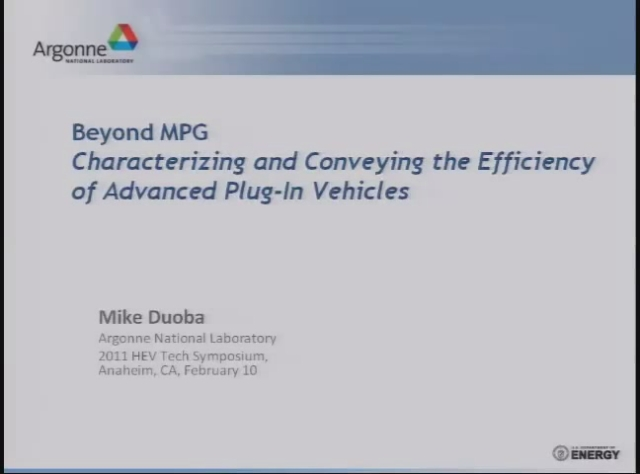 Beyond MPG: Characterizing and Conveying the Efficiency of Advanced Plug-In Vehicles