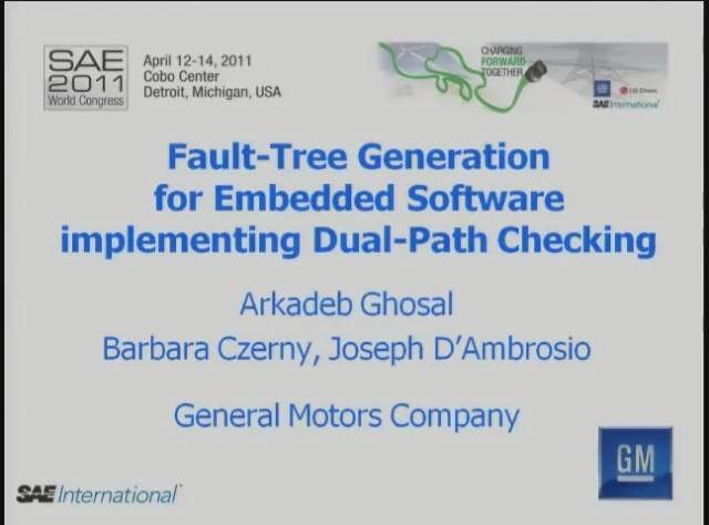 Fault-Tree Generation for Embedded Software Implementing Dual-Path Checking