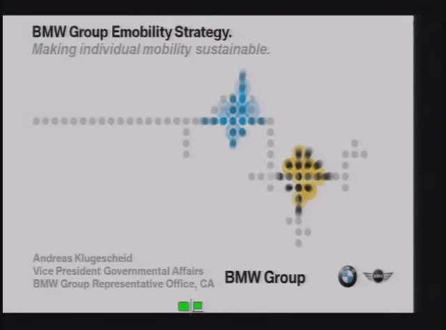 BMW Technology/Strategy Regarding EV