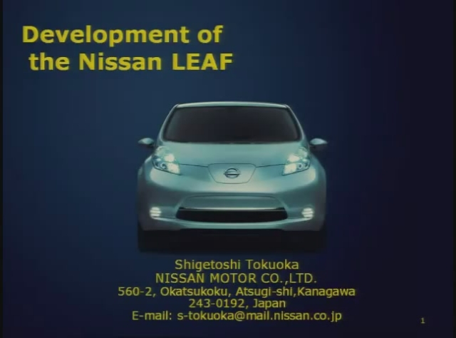 Development of the Nissan LEAF