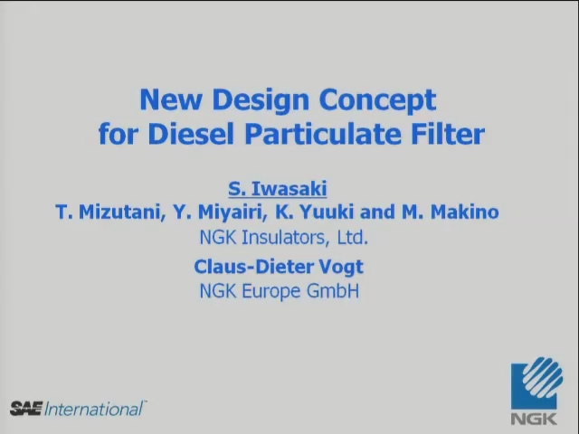New Design Concept for Diesel Particulate Filter