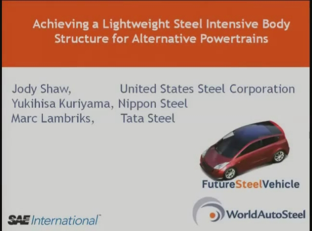 Achieving a Lightweight and Steel-Intensive Body Structure for Alternative Powertrains