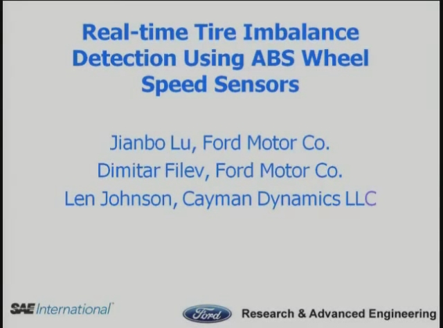 Real-time Tire Imbalance Detection Using ABS Wheel Speed Sensors