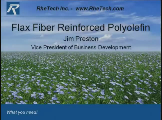 The Utilization of Flax Fiber Reinforcement in Polypropylene Compounds
