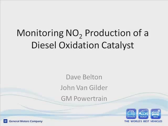 Monitoring NO2 Production of a Diesel Oxidation Catalyst